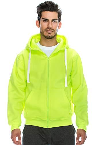 op Basic Heavyweight Zip Hoodie Jacke (Größe bis 6XL Plus) - Grün - 5X-Large ()