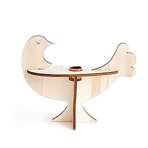 Studio rOOF lIVCA5 chandelier oiseau en bois de peuplier
