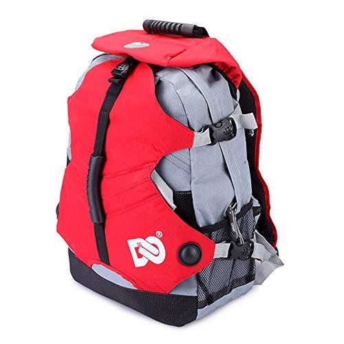 Hethrone Rollschuhe Schuhe Rucksack Professionelle Aufbewahrungstasche Eislauf Tasche für Kinder und Erwachsene (Rot)