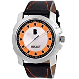 Bullet BLT_02 New Looks Multi Color in Orange Casual Leather Analog Men's Watch ...