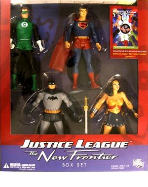 DC JUSTICE LEAGUE OF AMERICA NEW FRONTIER FIGURINE BOX SET