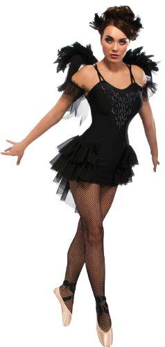 Damen Swan Ballett Halloween-Kostüm–Medium, Schwarz (Gothic Ballerina Halloween-kostüm)