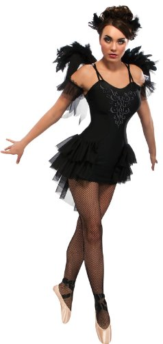 �m/Ballerina, Damen, offizielles Produkt, Halloween, Erwachsenen, Größe:L,Schwarz (Kostüm Halloween Black Swan)