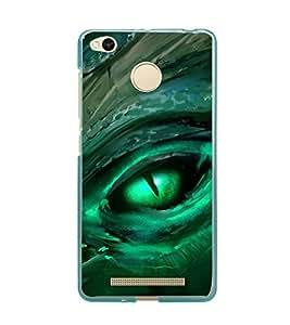 PrintVisa Green Eye High Gloss Designer Back Case Cover for Xiaomi Redmi 3s :: Xiaomi Redmi 3s Prime