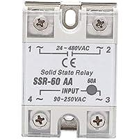 Relé de estado sólido, Relé de estado sólido de 60 A, Relé de estado sólido AC-AC SSR con interruptor sin contacto SSR-60-AA de alta calidad 24-480VAC