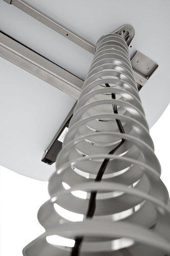 Schreibtisch Set Hammerbacher Serie XE 160 cm höhenverstellbar mit PC – Halterung & Kabelspirale in Dekor Lichtgrau - 5