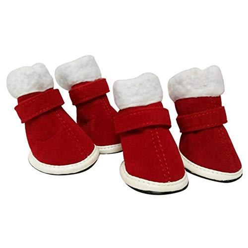 AMURAO Haustier Hund Schuhe Stiefel, Weihnachten Winter Dress Up Haustier Stiefel Puppy Schuhe Schuhe Stiefel Schuhe