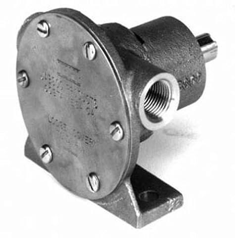 Jabsco 1673-1001 Marine 1673 Series Pulley Driven Flexible Impeller Pump (Neoprene Impeller, Full Cam, Lip Seal, 1/2