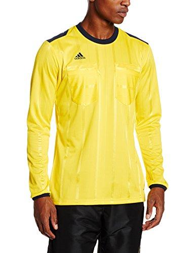adidas Herren T-Shirt UCL REF Jersey Long Sleeve, Gelb/Schwarz, L