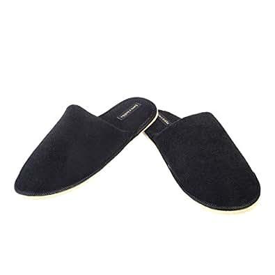 futro z królika Unisex Black Polyester Flip- Flops & House Slippers(39)