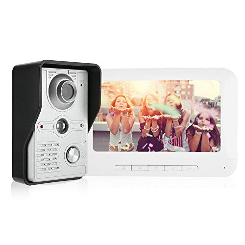 Kit Videocitofonico Campanello Kit Citofono Campanello Smart Videocitofono Intercom Wifi/wireless Con 7 Pollici Tft Lcd Screem Funzione Di Visione Notturna(EU)