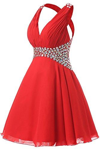 Promworld Damen A-Linie Kleid Violett Violett Rot