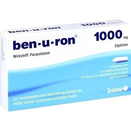 Ben-u-ron 1000mg 10 stk