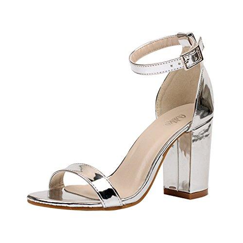 GS~LY Ruvido e semplice sandali di cavo Silver