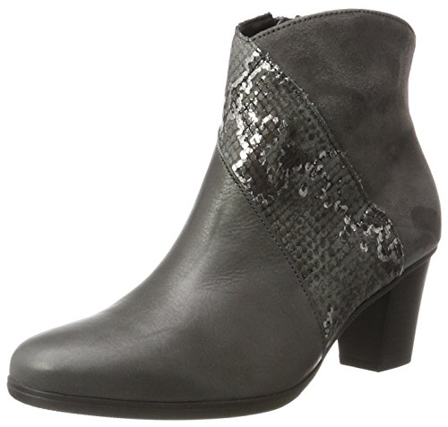 Gabor Shoes Damen Basic Stiefel, Grau (69 Dark-Grey (Micro)), 42 EU