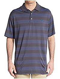 Callaway homme Big & Tall Golf Performance Rugby à manches courtes à rayures Polo XL Black (002)