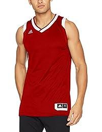 adidas Crzy Explo Jers Camiseta de Baloncesto, Hombre, Rojo (Rojpot/Blanco)