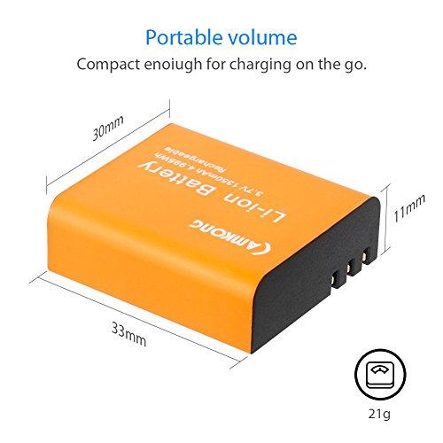 CAMKONG-2-pezzi-1350mAh-Action-Cam-Batteria-Ricaricabile-LCD-Dual-USB-Caricabatterie-per-APEMAN-AKASO-ODRVM-Victure-Crosstour-Lightdow-Vitsing-DBPOWER-Campark-SOOCOO-EKEN-SJCAM-Nexgadget-ThiEye-Gizcam