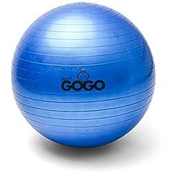Deporte GOGO gimnasio/yoga y fitness pelota 65cm (azul)