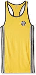 Chromozome Mens Cotton Vest (ST01_Yellow_S)