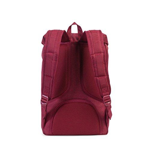 Imagen de herschel supply co. poco américa mid volume , winetasting crosshatch/tan synthetic leather rojo  10020 01158 os alternativa