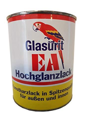 Glasurit EA Hochglanzlack Kunstharzlack Silbergrau Innen & Außen 375 ml