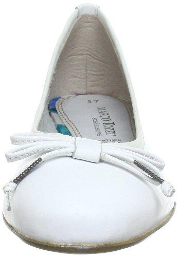 Marco Tozzi 2-2-22128-20, Ballerine donna Bianco (Weiß (WHITE 100))