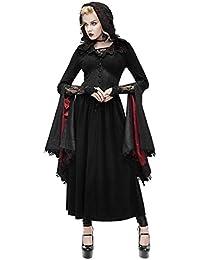 7a0dc565557ebe Devil Fashion Womens Gothic Jacket Dress Black Red Hooded Cloak Steampunk  VTG