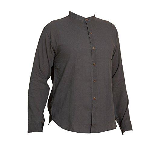 PANASIAM Sommer Hemden aus wohlig weicher, 100% reiner Naturbaumwolle Shirt 6button GREY