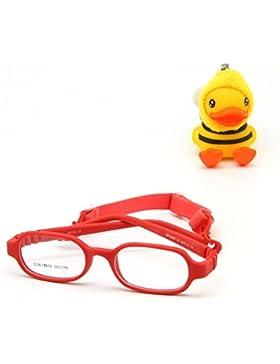 EnzoDate las niñas de los niños de las unidades ópticas con correa, no screw un pedazo de niños de gafas, talla...