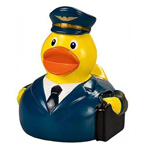 Quietsche-Ente Pilot Badespaß Gummiente Quitschente Badeente Spielzeug