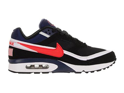 Nike Air Max Bw Premium, Chaussures de Running Entrainement Homme, Noir, 40 EU Noir (Black / Crimson-Midnight Navy-White)