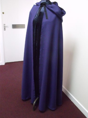 Purple Polyester Twill Adult Cloak - Legoslas/Frodo/Lord Of The Rings/LOTR/Pirate/Arwen/Pagan/Halloween by Merlins Medieval Closet (Star Lord Kostüm Schuhe)