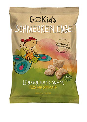 GoKids Schmeckerlinge: Bio Linsen-Reis Snack mit Pizzageschmack. 14er Pack (14 x 30 g)