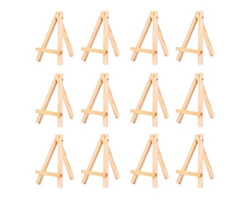 ni Holz Staffelei Schreibtisch Display Staffelei Set von 12 Staffelei Ständer für Gemälde Karten Fotos ()