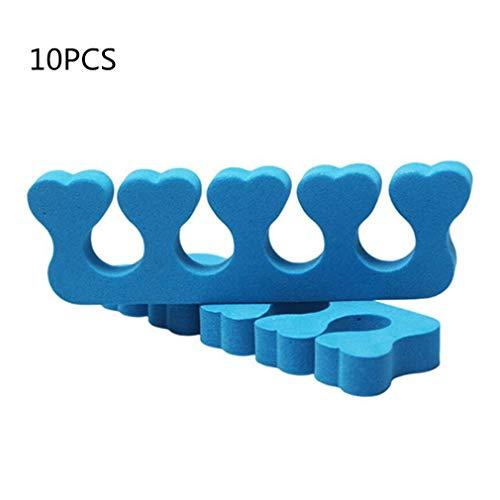 10 stücke Toe Separator Weiche Schwamm Finger Divider Spacer EVA-schaum Nail art Pediküre Maniküre Toolvon TheBigThumb, Blau -