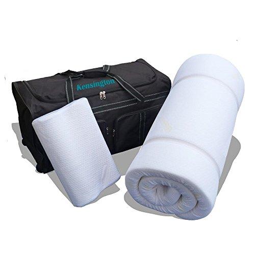 Prima Comfort Reise-Matratzenauflage, Memory-Schaum, 7 Tage, inkl. Reisekissen aus Memory-Schaum und Reisetasche mit Rollen Matratze 190 x 70 x 5 cm