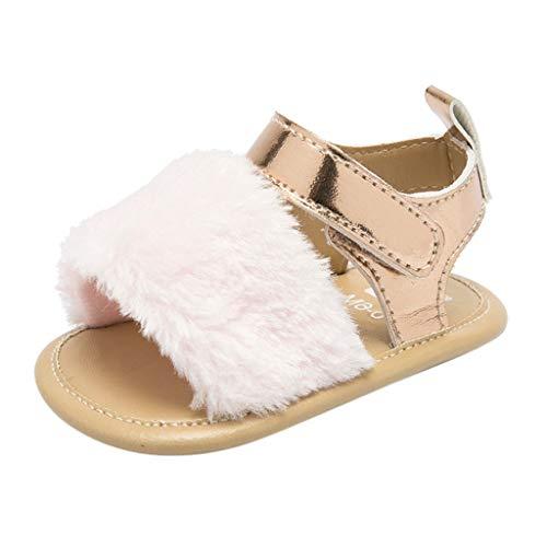 SEWORLD Baby Schuhe Kinder Krabbelschuhe Lauflernschuhe Hausschuhe Krippe Prewalker Weiche Sohle Anti Rutsch Schuhe Sandalen Sneakers Turnschuhe Segeltuchschuhe Babyschuhe(Rosa,18 EU) (Mädchen Größe 1 Cowboy Stiefel)