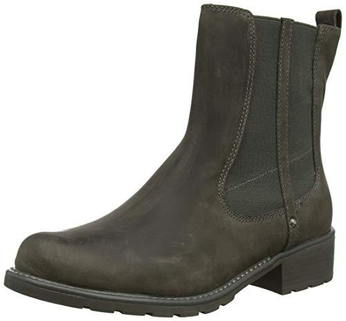 Clarks Damen Orinoco Club Biker Boots, Grau (Dark Grey Nubuck Dark Grey Nubuck), 40 EU