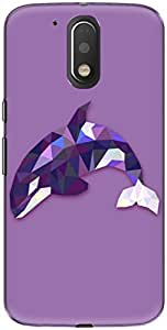 The Racoon Lean printed designer hard back mobile phone case cover for Motorola Moto G Play 4th Gen. (Purple Lea)