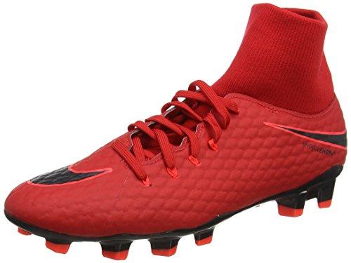 Nike Herren Hypervenom Phelon 3 DF FG Fußballschuhe, Rot (Rouge Université/Cramoisi Brillant/Noir), 43 EU (Herren Laufen Schuhe Nike Rot)