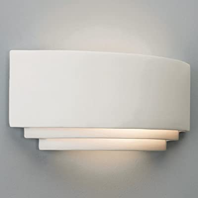 Astro 0423 E27 Amalfi Wall Light excluding 1 x 100W 230 V Bulb, Natural Ceramic - inexpensive UK wall light shop.
