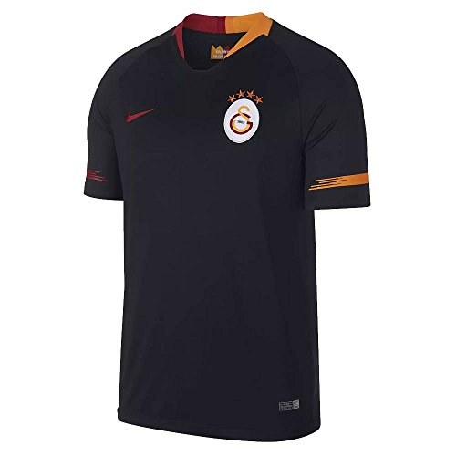 Nike Herren Galatasaray Breathe Stadium Jersey Short-Sleeve Away Trikot, Black/Pepper red, M