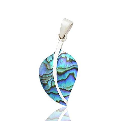 DTPsilver -Damen - Anhanger 925 Sterling Silber mit Abalone Paua Muschel