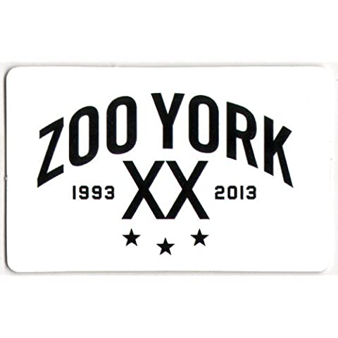Zoo York 1993-2013 pegatina - blanco patinando BMX Sk8 Skate snowboard NYC