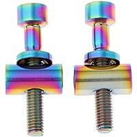 Sharplace 2 Piezas de Tornillos Fijos para Tubo de Asiento de Bicicletas Tuercas para Sillas - Multicolor, M5x35