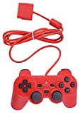 #5: PS-2 Wired Dualshock Remote Controller for PlayStation-2 (Red)