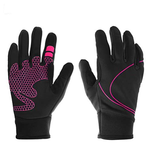 Guanti Nuovi Bicicletta Mountain Bike Full Finger Outdoor Warm Touch Screen Gloves (Colore : Pink)
