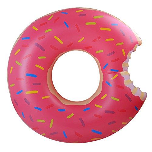 CHENGYI Schwimmendes Bett, Wasser Aufblasbarer Donut Schwimmring, Schwimmbad Float Aufblasbare Spielzeug Erwachsene & Kind Schwimmende Bett Wasser Erholung Stuhl 120 cm ( Farbe : Pink )