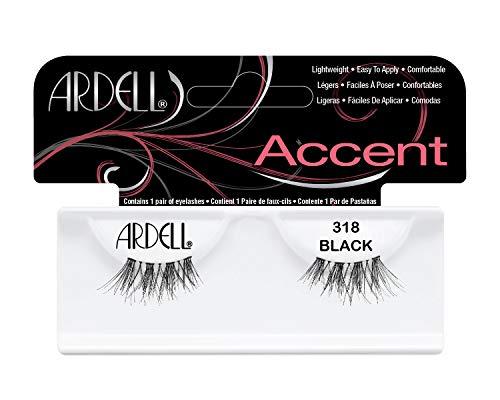 Ardell Accent Style Eye Lashes Nummer 318, Schwarz, 4er Set -